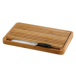 Bamboo bread board with crumb tray (GN 1/1). Can be used on a cold base (no cooling feature but for appearance purposes if required)