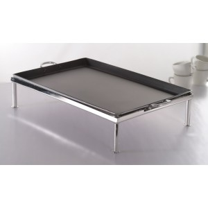 "28"" x 17.25"" Stainless Steel Stand, 3.5"" Tall (fits GRDL-01)"