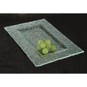 """12"""" x 8"""" Jade Glass Rectangular Platter"""
