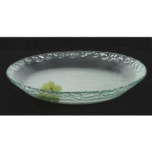 "11.75"" Jade Glass Bowl 2.25"" deep"