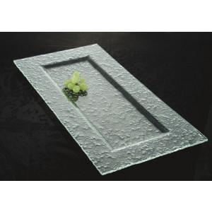 """23"""" x 12"""" Jade Glass Rectangular Platter, 2.5"""" deep"""