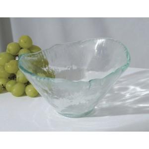 "16 oz. Woven Jade Glass Bowl, 6.25"" tall"