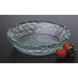 "8"" Jade Glass Bowl, 2"" deep"