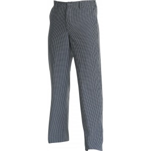 Chef Uniform Trousers Blue Check Zip