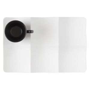 Rectangular plate w/ small compartments and saucer