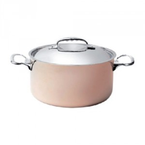 S Copper Stew Pan With S/S Lid