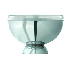 Refrigerated yoghurt holder with glass bowl (Ø cm 28).