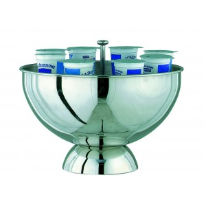 Refrigerated yoghurt bowl with extractable grill.