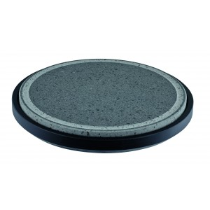 Hot stone for table. Wooden base included.