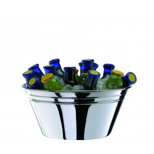Refrigerating bowl for champagne and drinks. Ø cm 28