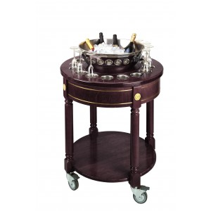 Liqueur trolley. Solid Wood. Stainless Steel. Solid Wood Legs.