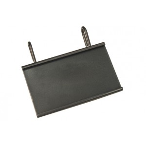 "Hanging Card Holder for Wire Baskets, holds 3.5"" x 2"" card"