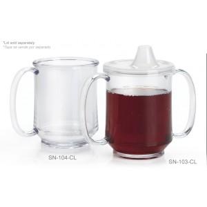 """8 oz. (10 oz. Rim-Full), 3.25"""" Two Handle Mug, 3.75"""" Deep"""
