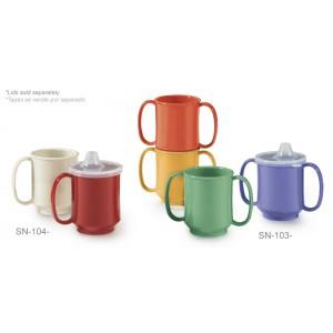 "8 oz. (10 oz. Rim-Full), 3.25"" Single Handle Mug, 3.75"" Deep"