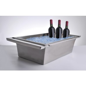 """26.5"""" x 16"""" Double-Walled Stainless Steel Beverage Tub, 6.5"""" tall"""