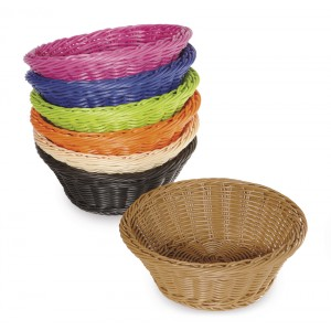 "9.5"" Round Basket, 3.5"" Deep"