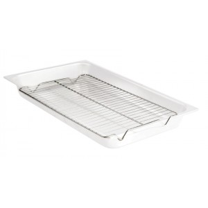 """18.5"""" x 10.5"""" Rectangle Chrome Wire Grate, 1"""" Tall"""