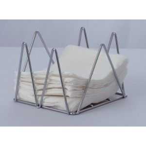 """5"""" Chrome Plated Wire Napkin Holder, 5"""" tall"""