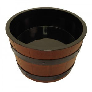Barrel Bowl Set(Plain Melamine Liner) Insert 4.5L