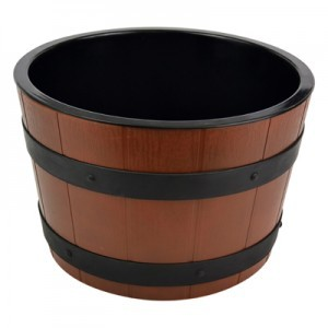 Barrel Bowl Set(Plain Melamine Insert) Dia  8L