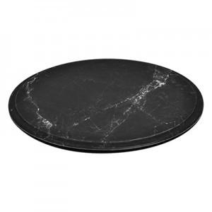 Black Marble Effect Melamine Round Platter w/ SF