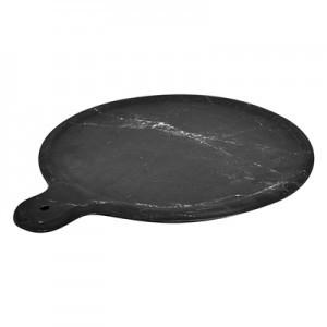 11'' Black Carrara Marble Melamine Platter