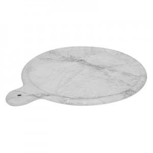 11'' White Carrara Marble Melamine Platter