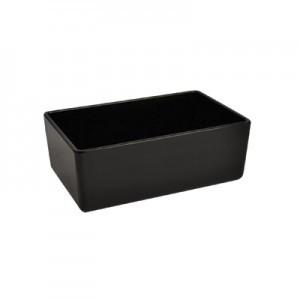 Black Melamine Chunky Crock 162x260x100mm 3.2L