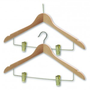 Wooden with Skirt Clips - Brass (sold in packs of 50)*