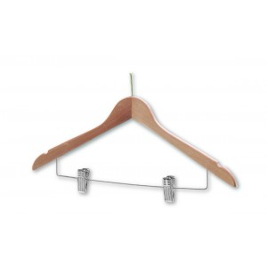 Wooden with Skirt Clips – Chrome (sold in packs of 50)*
