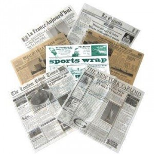 "12"" x 12"" Food-Safe Variety Pack Newsprint Liner, 1000 pieces./cs."