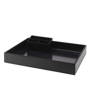 Leatherette Courtesy Tray Set