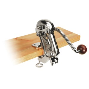 Cast iron table mounted corkscrew