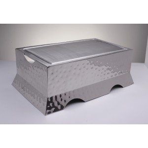 """Griddle , Cast Aluminum  With Recessed Well On All Four Sides, 18 1/4"""" L X 10 1/4"""" W"""