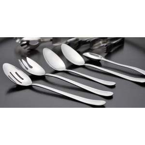 """11.5"""" Stainless Steel Slotted Spork w/ Mirror Finish"""