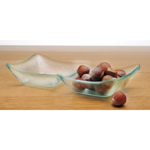 2-Compartment Jade Glass Bowl, 3 oz. Compartments