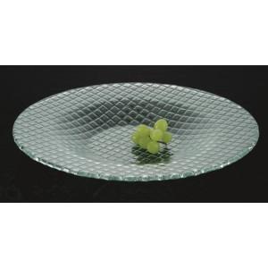 "16"" Woven Jade Glass Bowl"