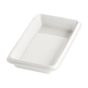 White enamelled porcelain deep dish GN 1/3