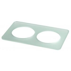 Acrylic tray GN1/1 - 2 holes