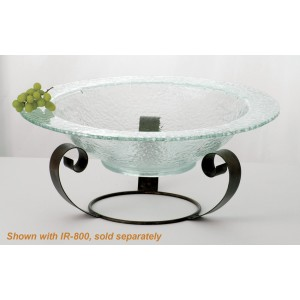 "12 qt. Jade Glass Bowl, 22"" dia., 5"" deep"