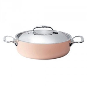 Copper Saute Pan With S/S Lid