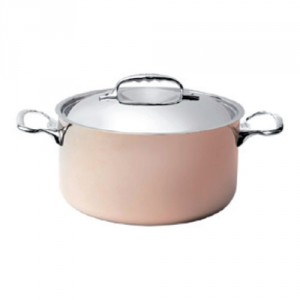 M Copper Stew Pan With S/S Lid