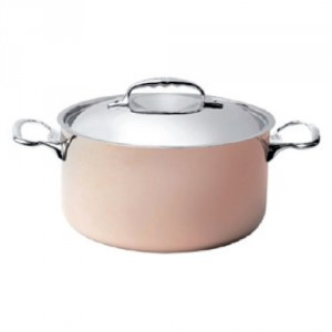 L Copper Stew Pan With S/S Lid