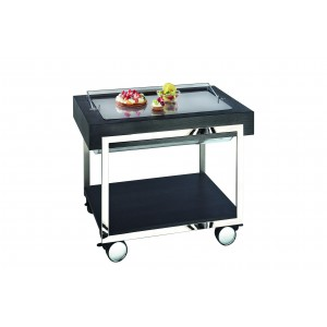 Refrigerated patisserie trolley.