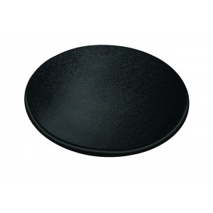 Round tray in polyethylene.