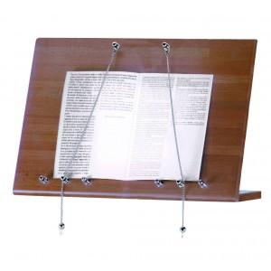 Wood wall menu stand.