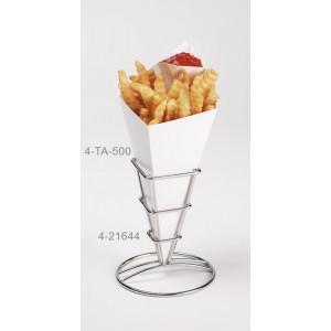 """2.5"""" Square Fry Cone, 5.25"""" Tall (Fits 4-TA-1000, 4-TA-500, 4-TA-540, 4-TAJ-50)"""