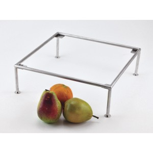"12"" Square Stainless Steel Riser w/ Brushed Finish, 4"" tall"