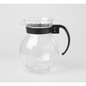 """90 oz., 8.75"""" Tahiti™ Pitcher Clear w/Black Handle, 8.75"""" Tall (2 Boxes of 6)"""