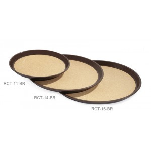 "16"" Round Cork Lined Tray"
